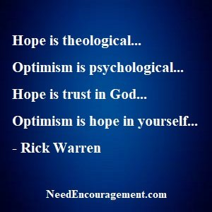 Hope Is Not Optional, It Is Critical!