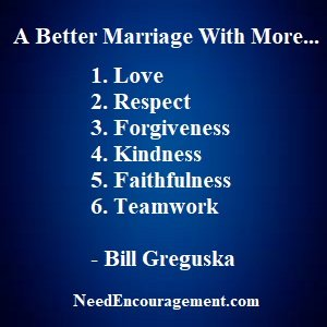 Learn how you can improve your marriage!
