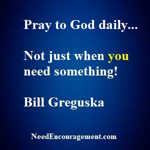 Pray to God and read His word every day!