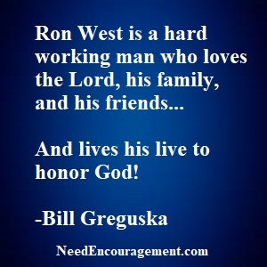 Pastor Ron West And His Journey With God!