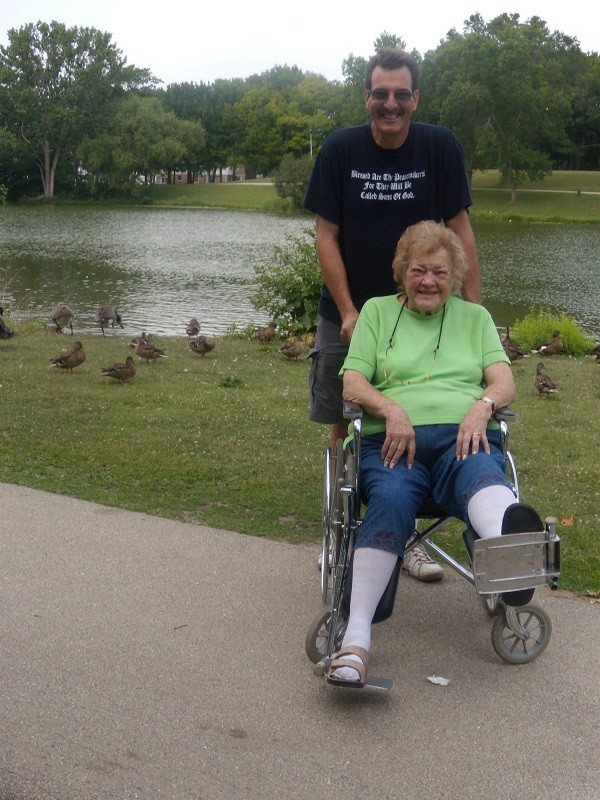 Mom and I took walks or rides every day the last 8 years of her life. God has put other's in my life after my mom's death to help take care of.