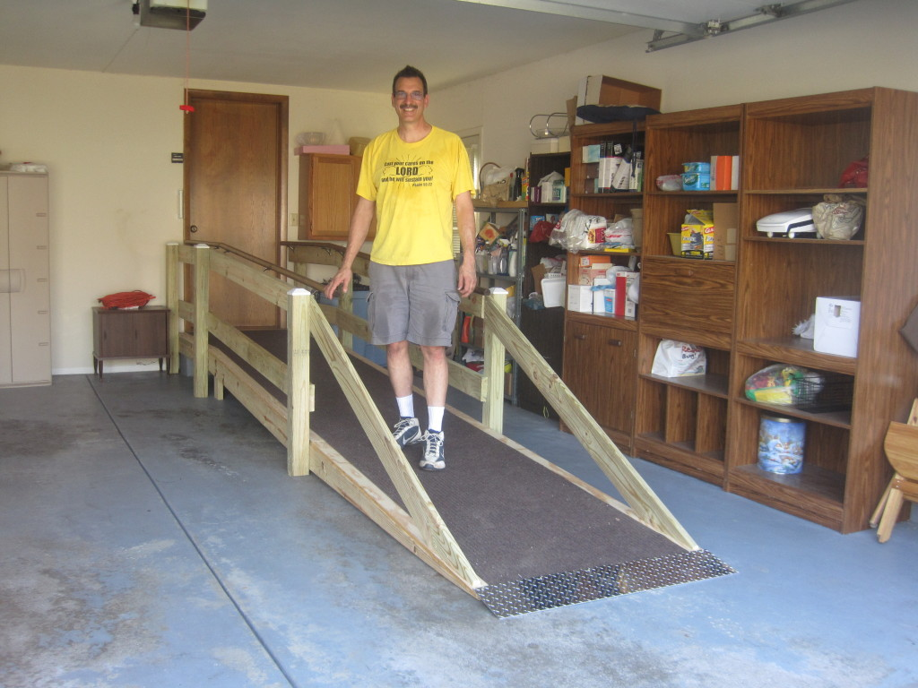 I was a wheelchair ramp builder for Faith Indeed with my boss Ron West!