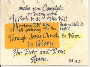 Heb1321...makeyoucompleteineverygoodwork...