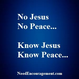 Find real peace with God!