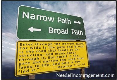Narrow path or broad path?
