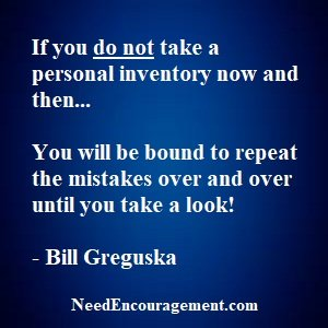 Take a personal inventory of yourself!