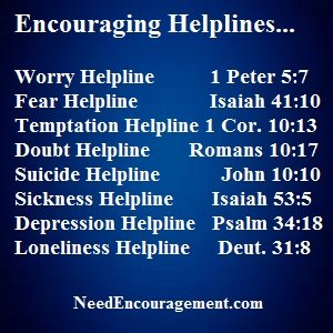 The phone helplines we offer can be a very helpful tool!