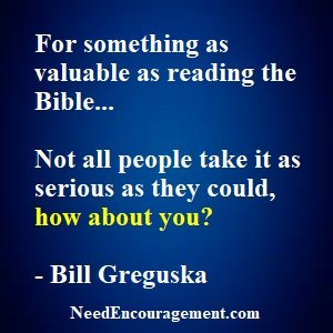 Do You Take Time To Read The Scriptures?