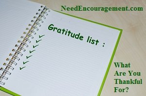 Gratitude list. What are you thankful for?