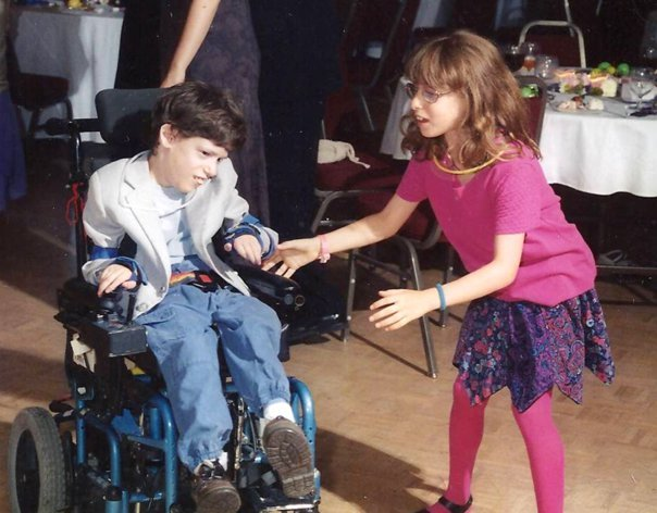 Ben and Sylvia. Ben Hersh has Cerebral Palsy, but that is NOT stopping him from living a good, productive life