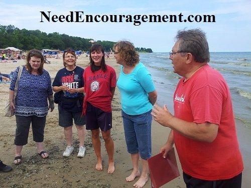 Mark Mallwitz and Bible study by lake Mishigan baptism