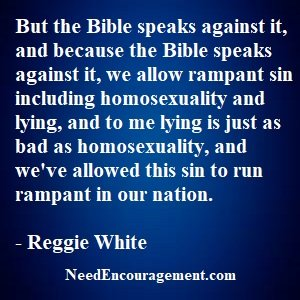 Homosexuality Is Against God's Will