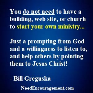 Want To Start Your Own Ministry?