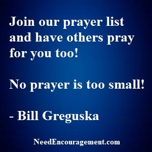 Sign up for the prayer list!