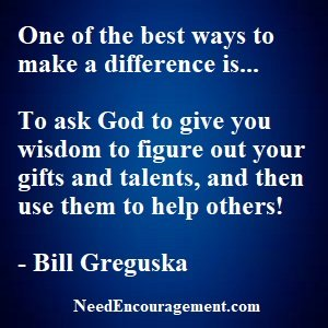 Make a difference in someone's life today!