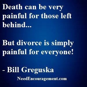 Divorce Is The Pulling Apart Of One FleshInto... Two! Divorce Hurts!
