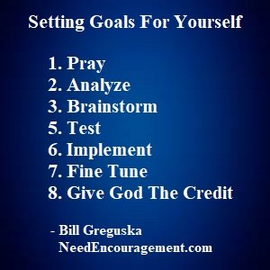 Helping Yourself Set Goals In Your Life!