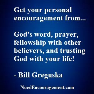 The best personal encouragement comes from God!
