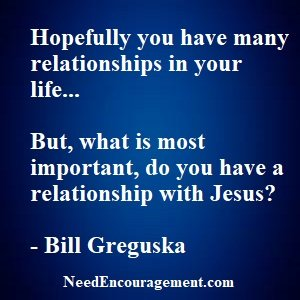 A Personal Relationship With Jesus?