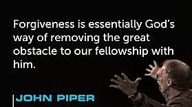 Pastor John Piper talks about forgiveness.