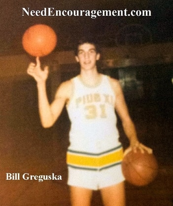 Basketball testimony of Bill Greguska Pius XI High school 1974-77