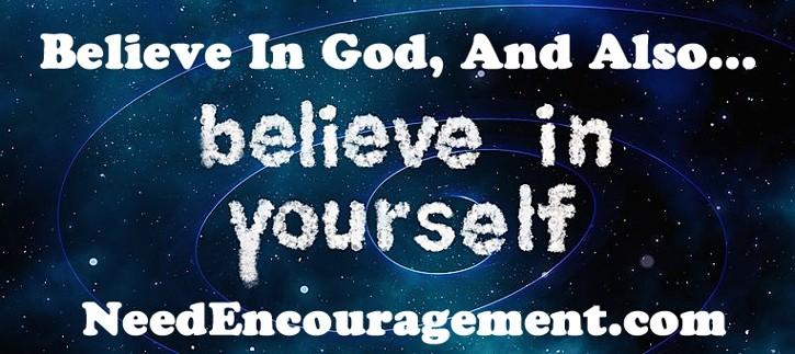 Encourage yourself!