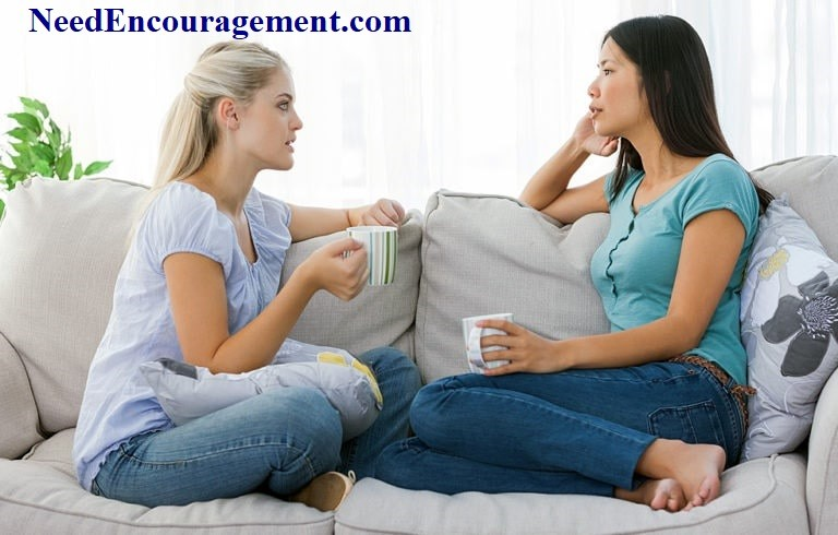 Share encouargement with others by being a good listener!
