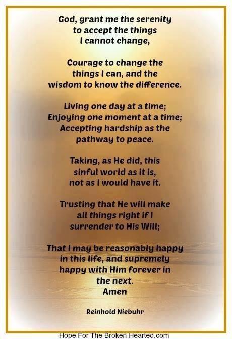 Serentiy Prayer by Reinhold Niebuhr