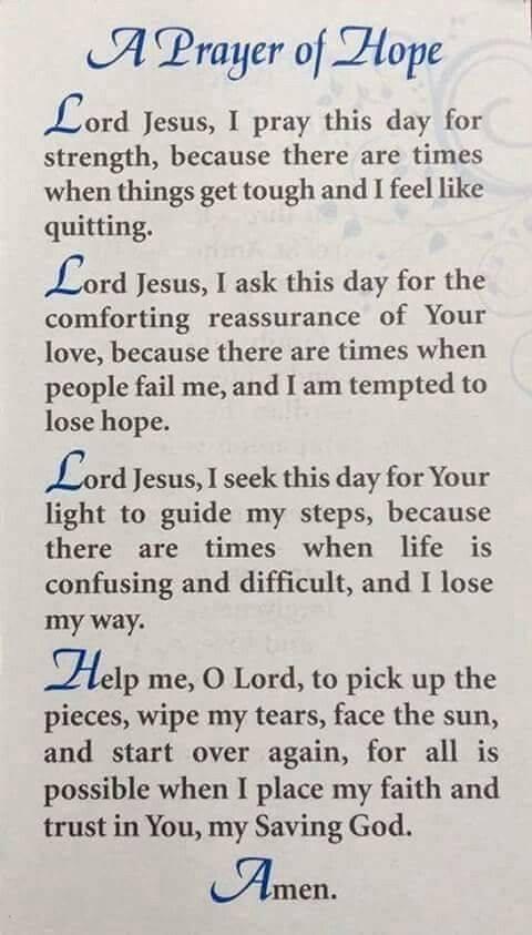 A prayer of hope!