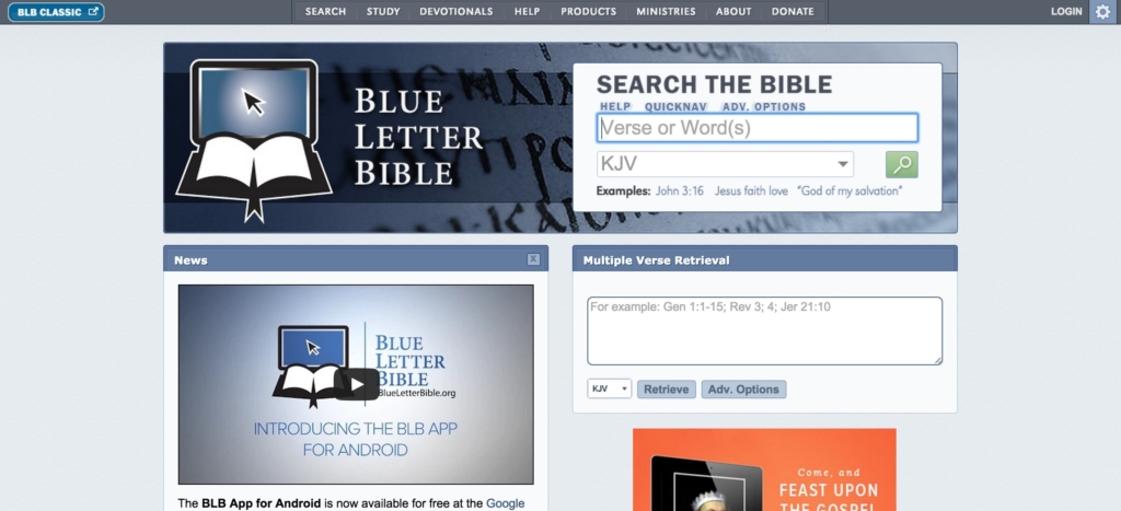 Blue letter Bible cross reference