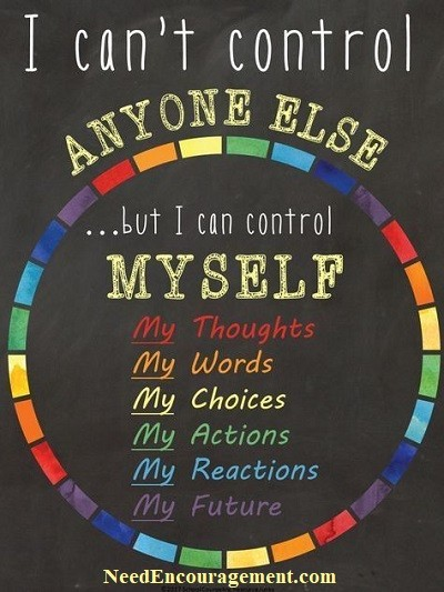 I can not control others!