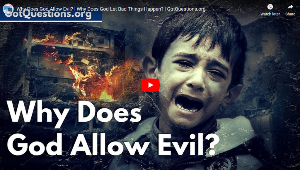 Does God allow evil to happen?