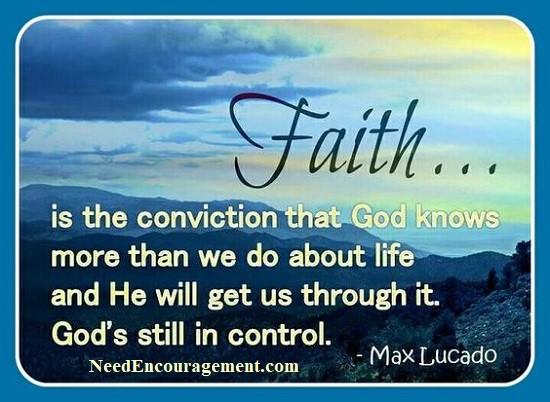 Do you have faith in God?