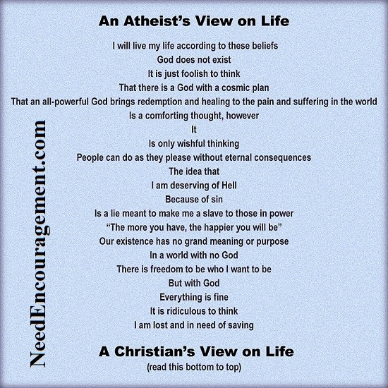 An Atheist's view of life