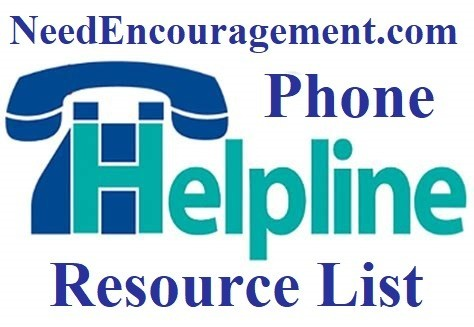 Phone helplines for encouragement