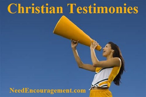 We all have our own testimony.